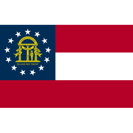 3x5 Foot Georgia State Polyester Flag - Vivid Color and UV Fade Resistant - Canvas Header and Double Stitched - State of Georgia GA Flags with Brass Grommets 3 X 5 Ft (Six Flags Halloween 2017 Georgia)