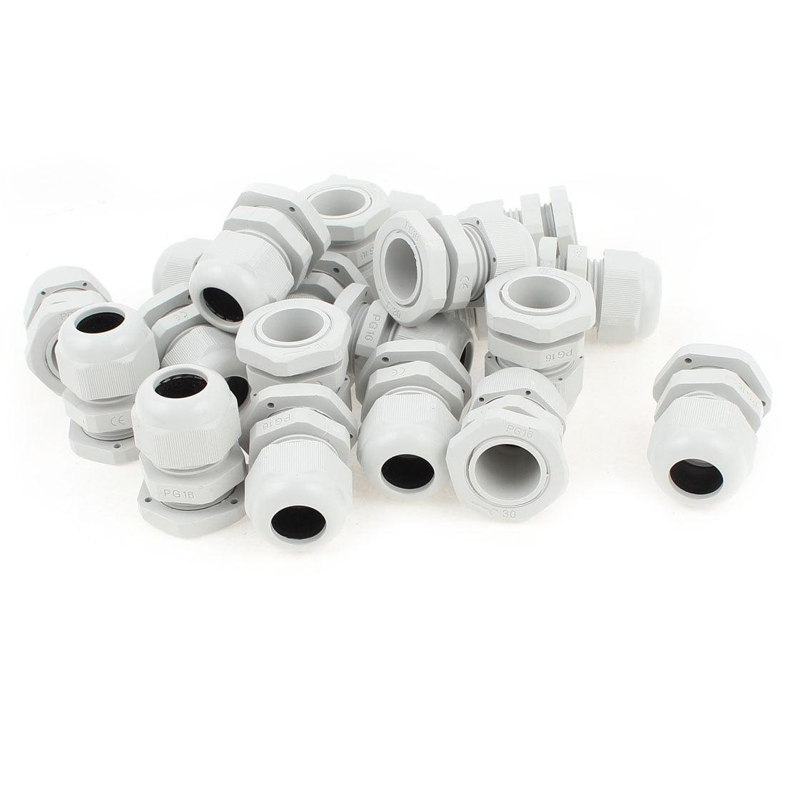 PG-29 blanc en plastique /étanche Connecteurs Cable Glands 10 Pcs