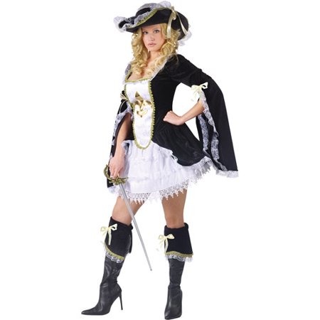 Midnight Musketeer Adult Halloween Costume (Musketeer Costume)