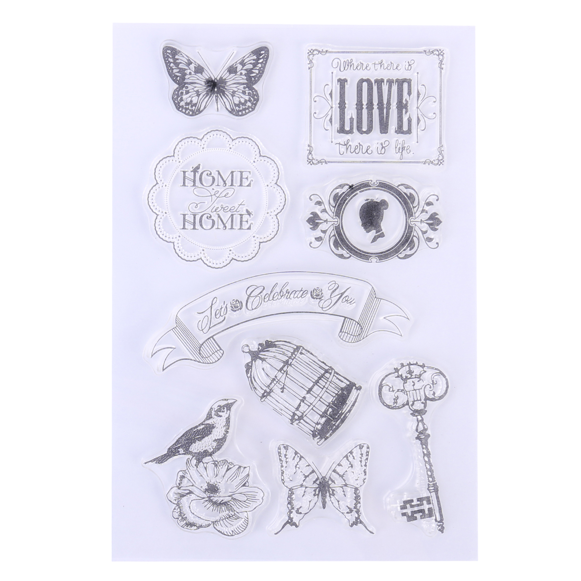 Wuliuen Cat in The Garden DIY Silicone Clear Stamp Cling Seal Scrapbook Embossing Album Decor Clear Stamp Transparent