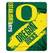 """NCAA Oregon Ducks 50"""" x 60"""" Fleece Throw"""