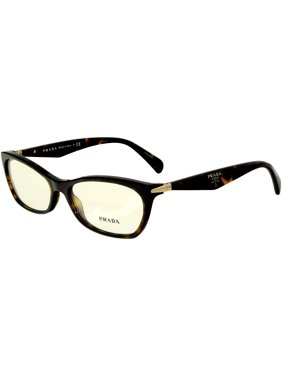 2b5778602f Product Image Prada Women s PR15PV-2AU1O1-55 Brown Rectangle Sunglasses
