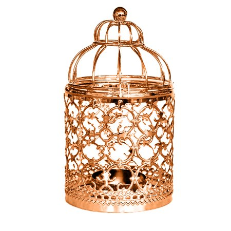 Tuscom Hanging Hollow Out Iron Birdcage Candlestick Table Candle Holder Parties Wedding