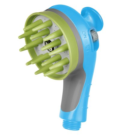 Yescom Pet Massage Shower Head Sprayer Handheld Wash Brush Bathe Grooming Comb for Cat Dog Puppy