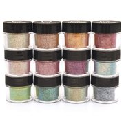 GLITTIES Cosmetic Fine Mixed Glitter Powder Kit (12 PK) - Safe for eyeshadow, makeup, body, nails, decorations