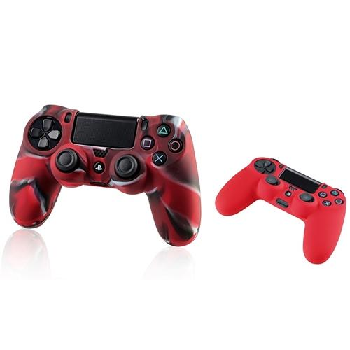 ps4 controller skin by Insten Red Skin Case Cover + Camouflage Navy Red Skin Case Cover for Sony PlayStation 4 PS4