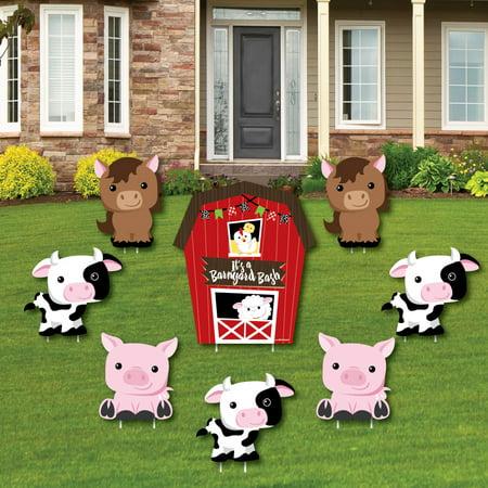 Farm Animals - Yard Sign & Outdoor Lawn Decorations - Barnyard Baby Shower or Birthday Party Yard Signs - Set of 8](Farm Decorations)