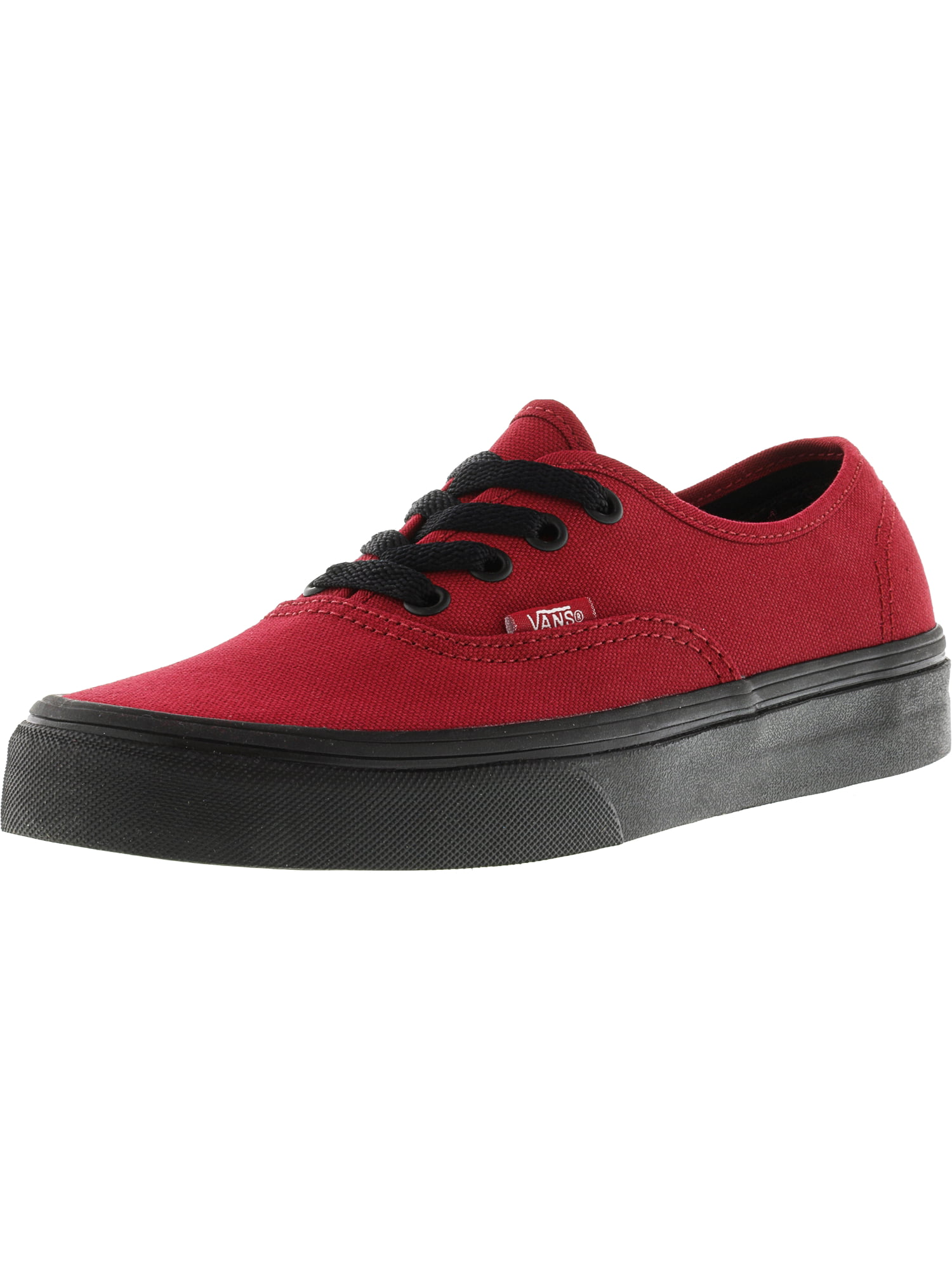 b42109a4f482 Vans - Vans Authentic Black Sole Jester Red Ankle-High Canvas Skateboarding  Shoe - 8M   6.5M - Walmart.com