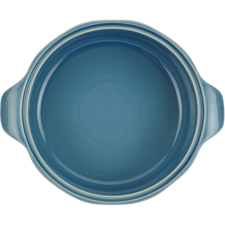 Ayesha Curry Stoneware Round Casserole, 2.5-Quart, Twilight Teal ...