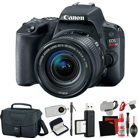 Canon EOS Rebel SL2 DSLR Camera +18-55mm Lens (Black) (Intl Model) +Extra Access