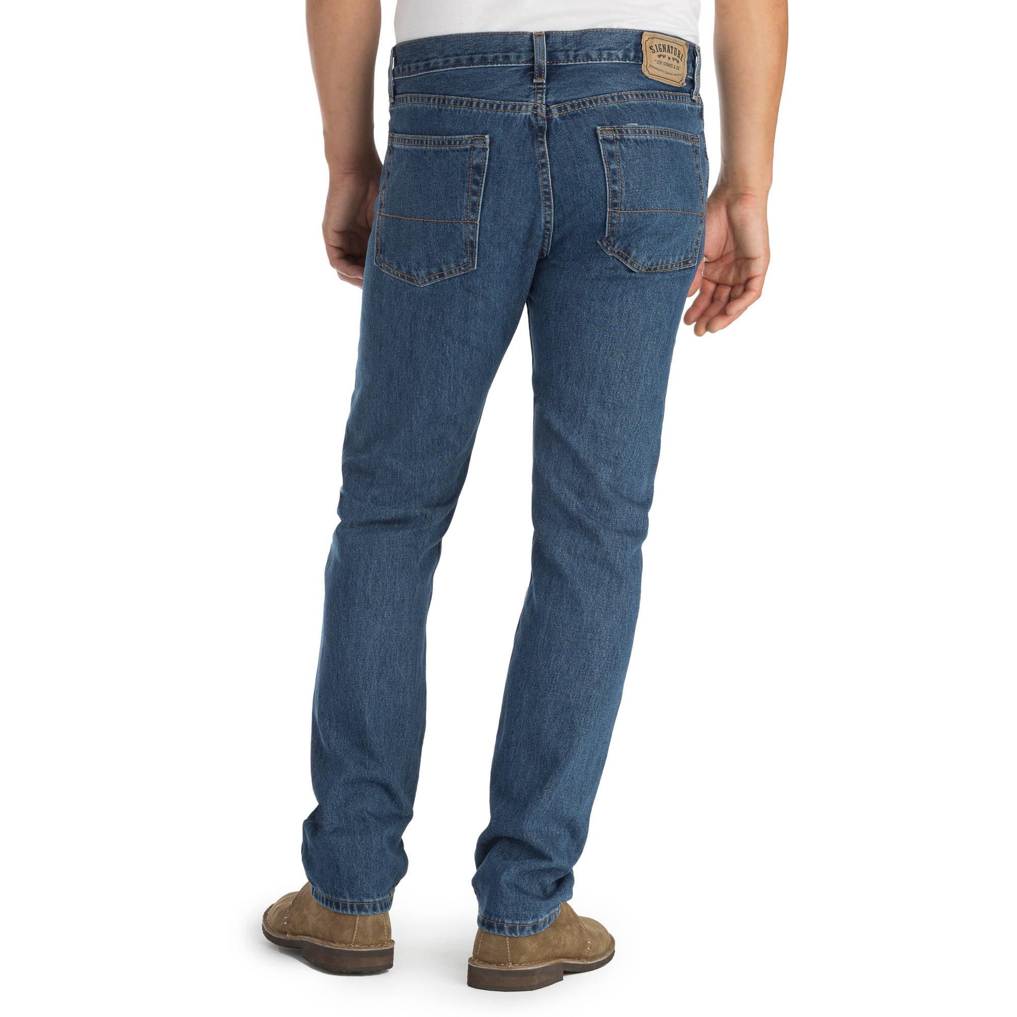 5fee2361 Signature by Levi Strauss & Co. - Men's Regular Fit Jeans - Walmart.com