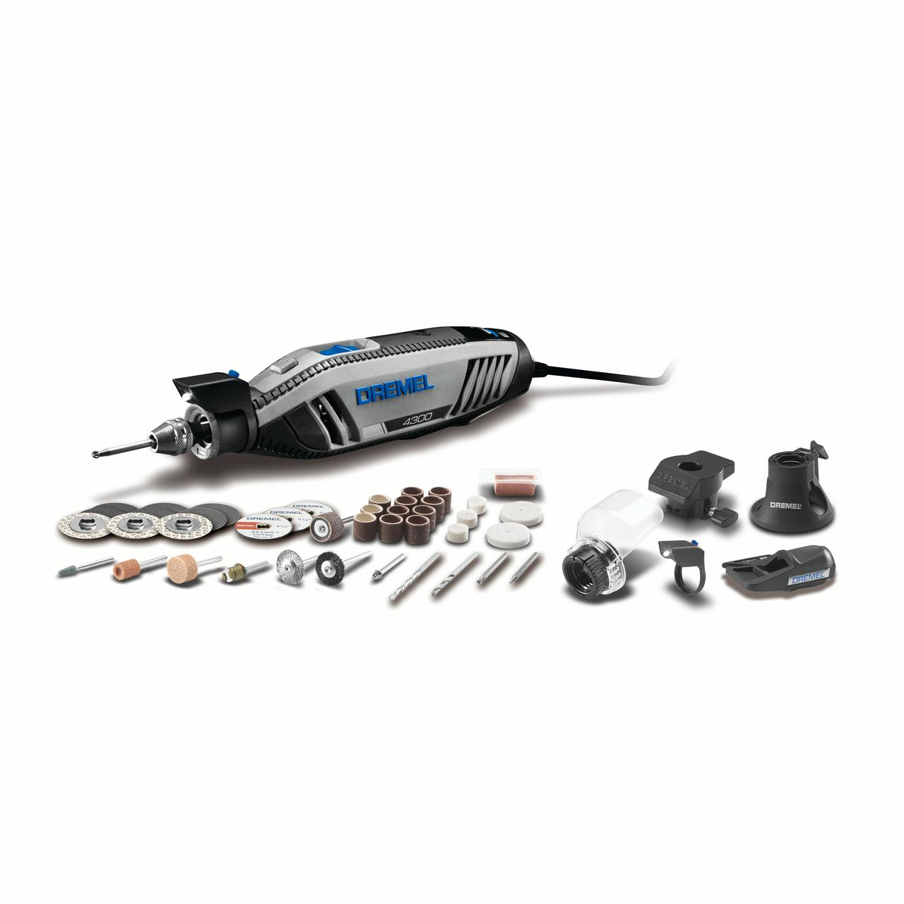DREMEL 4300-5/40 Rotary Tool Kit w/5 attachments and 40 accessories