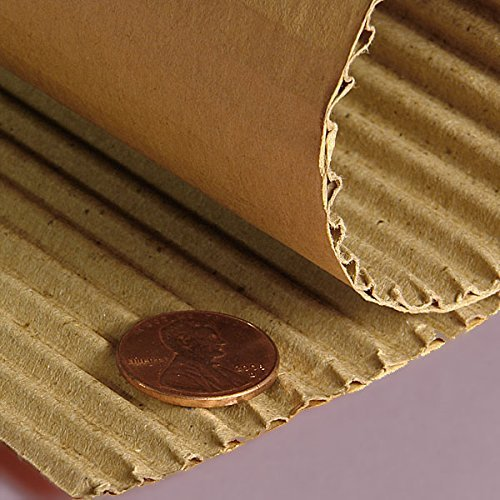"Corrugated Rolls 18"" Regular B Flute - Corrugated Rolls by Paper Mart"