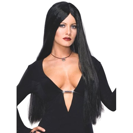 Rubies The Addams Family Morticia Costume Wig - Morticia Addams Cosplay