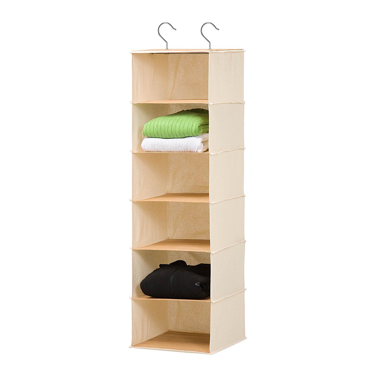 Incroyable Honey Can Do SFT 01003 Hanging Closet Organizer, Bamboo ...