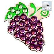 Bella Crystal Golf Ball Marker & Hat Clip - Red Grapes