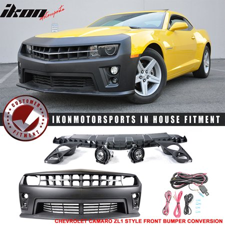 - Fits 10-13 Chevy Camaro ZL1 PP Front Bumper Cover Daytime Running Light