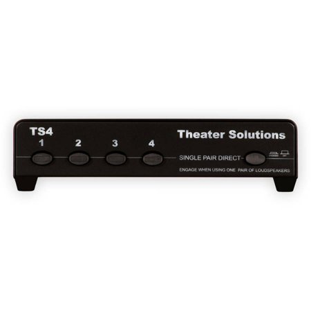 Theater Solutions TS4 Four Zone Speaker Selector Box with Impedance