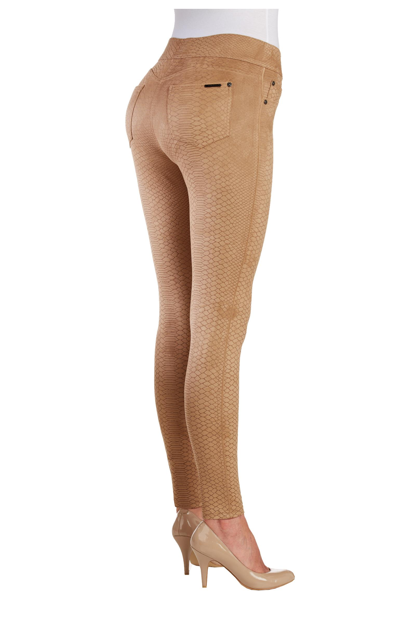 NYGARD Women's Slims 2.5 Suede Jegging (Camel, Small)