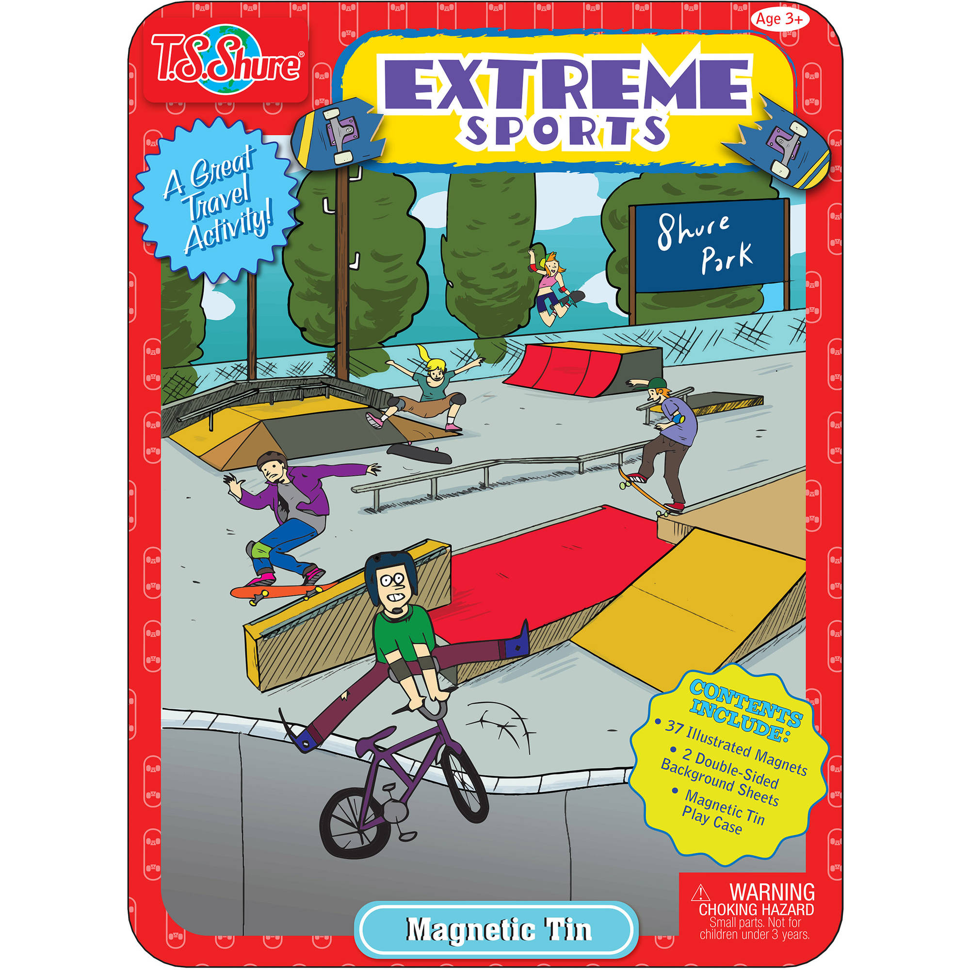T.S. Shure Extreme Sports Magnetic Tin Playset