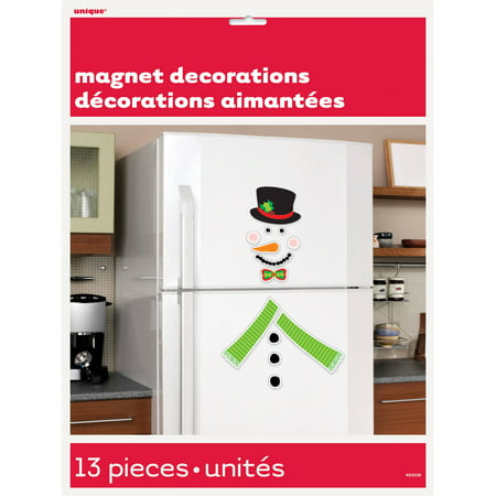 Snowman Holiday Decoration Refrigerator Magnets, 13pc