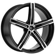 "Vision 469 Boost 17x7 5x110 +38mm Black/Machined Wheel Rim 17"" Inch"