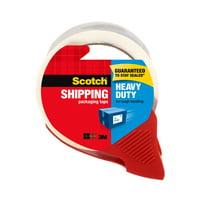 """Scotch Heavy Duty Packaging Tape, Clear, 1.88"""" x 38.2 yd, 1 Dispenser"""