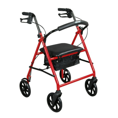 Drive Medical Steel Rollator Rolling Walker with 8