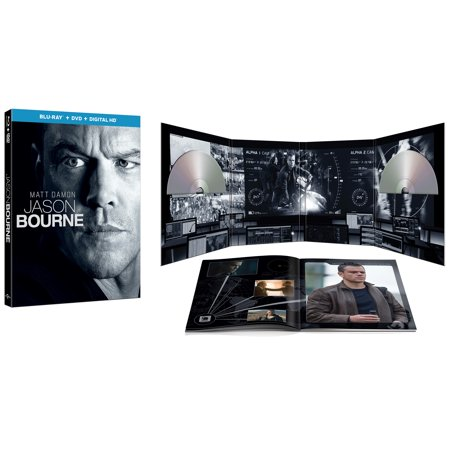 Jason Bourne  Blu Ray   Dvd   Digital Hd   With Instawatch   Walmart Exclusive   Widescreen