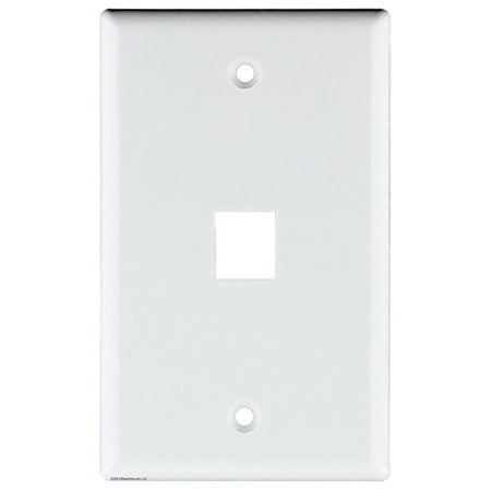 Signamax Inc 1-Gang Faceplate; Screw Terminal, (6) Port Keystone, High Impact Thermoplastic, White SKF-6-WH - - 1 Port Keystone Faceplate