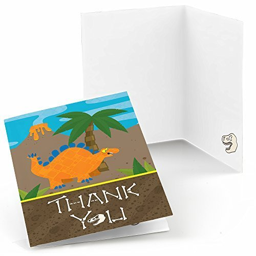 Dinosaur - Birthday Party Thank You Cards (8 count)