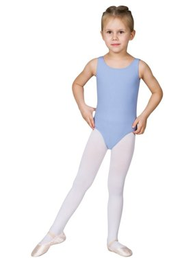 Sansha Girls Light Blue Scoop Neck Sleeveless Shanice Dance Leotard 8-18