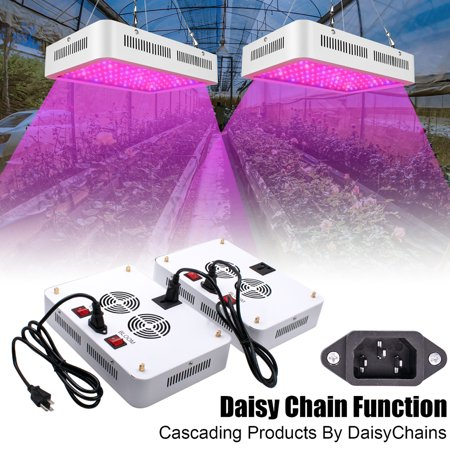Grow Light Fixture, Full Spectrum LED Grow Lights, Newest 1200W LED Panel Grow Lamp with IR & UV Grow Lights, for Indoor Plants, Succulents, Seedling, Vegetables, Lettuce, Tomatoes and Herbs,