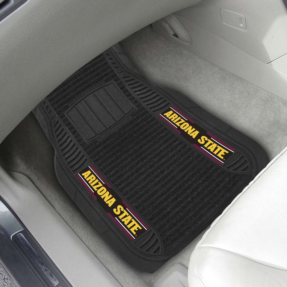 Arizona State 2 Piece Heavy Duty DELUXE Vinyl Car Mats by FanMats