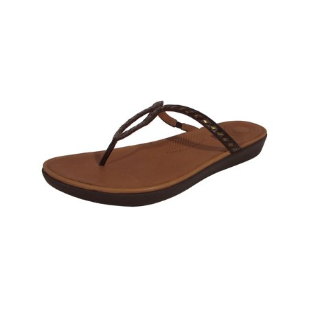 1d4d0fb9b1d FitFlop - FitFlop Women Strata Toe Thong Sandal Whipstitch Leather Shoe -  Walmart.com