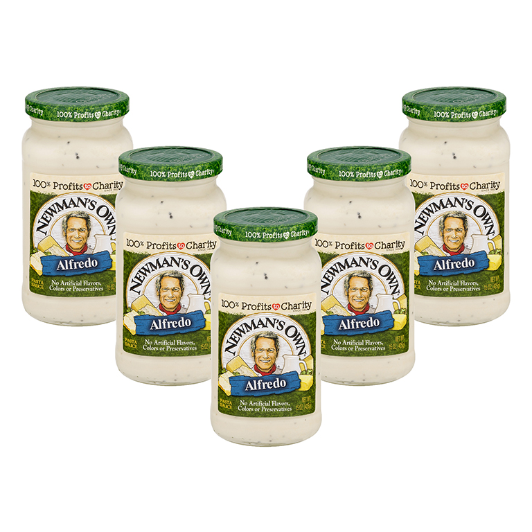 (5 Pack) Newman's Own Alfredo Pasta Sauce, 15 oz