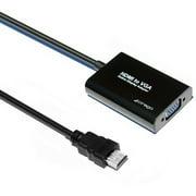 Cirago HDMVGA HDMI to VGA Display Adapter, Black