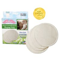 (2 Pack) NuAngel Natural Cotton Washable Nursing Pads, 4 ct