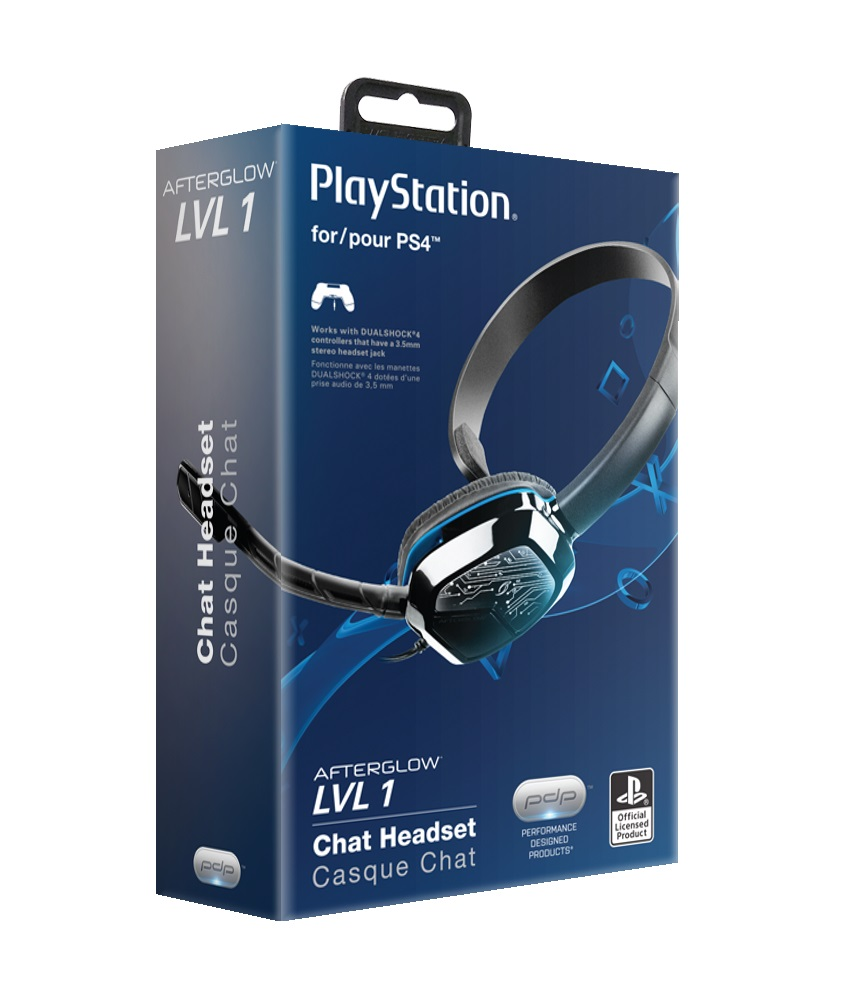 Pdp Afterglow Ps4 Lvl 1 Chat Headset Black 051 031 Walmartcom