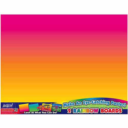 "Rainbow Boards Posterboards, 22"" x 28"", 2pk"