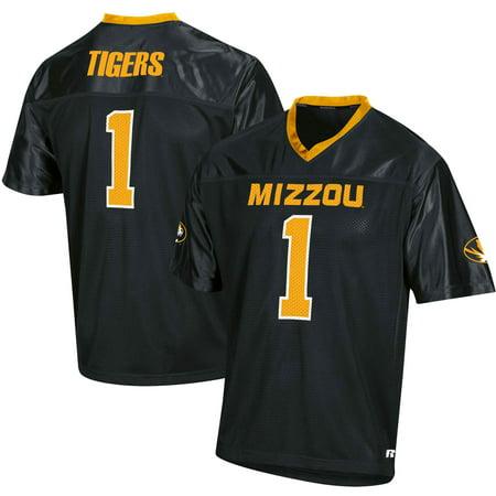 Men's Russell Athletic Black Missouri Tigers Replica Football Jersey Auburn Tigers Womens Football Jersey