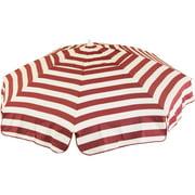 DestinationGear Italian 6' Umbrella Acrylic Stripes Cabernet and White Bar Height Pole