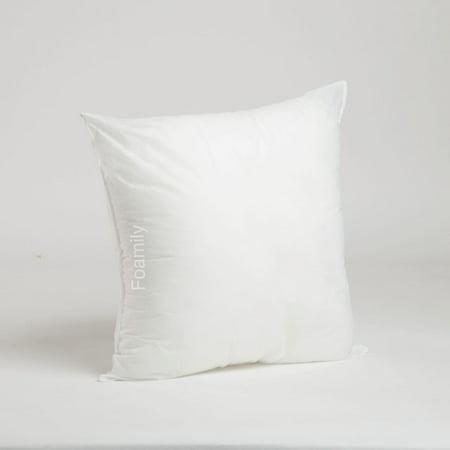 18 x 18 premium hypoallergenic stuffer pillow insert sham square form polyester standard. Black Bedroom Furniture Sets. Home Design Ideas