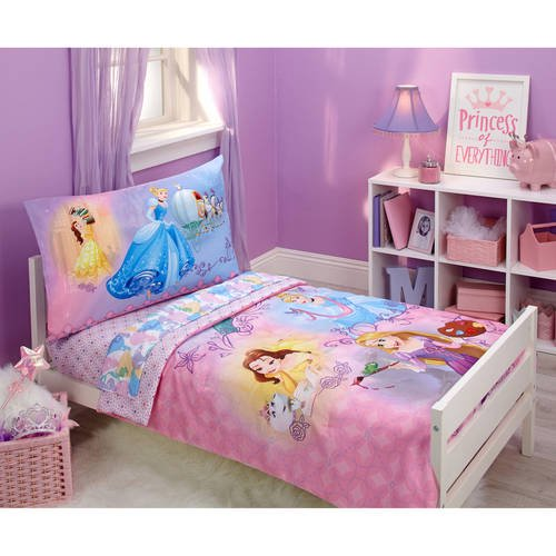Disney Princess Adventure Rules Toddler 4 Piece Bedding Set Walmart Com Walmart Com