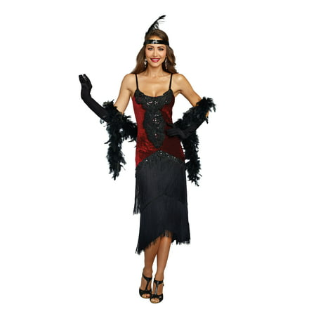 Dreamgirl Women's Luxe Million Dollar Baby Flapper Costume Dress