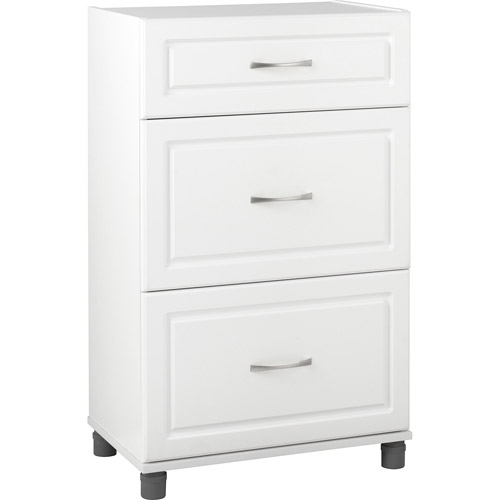 SystemBuild 3 Drawer Base Storage Cabinet, White  7368401PCOM