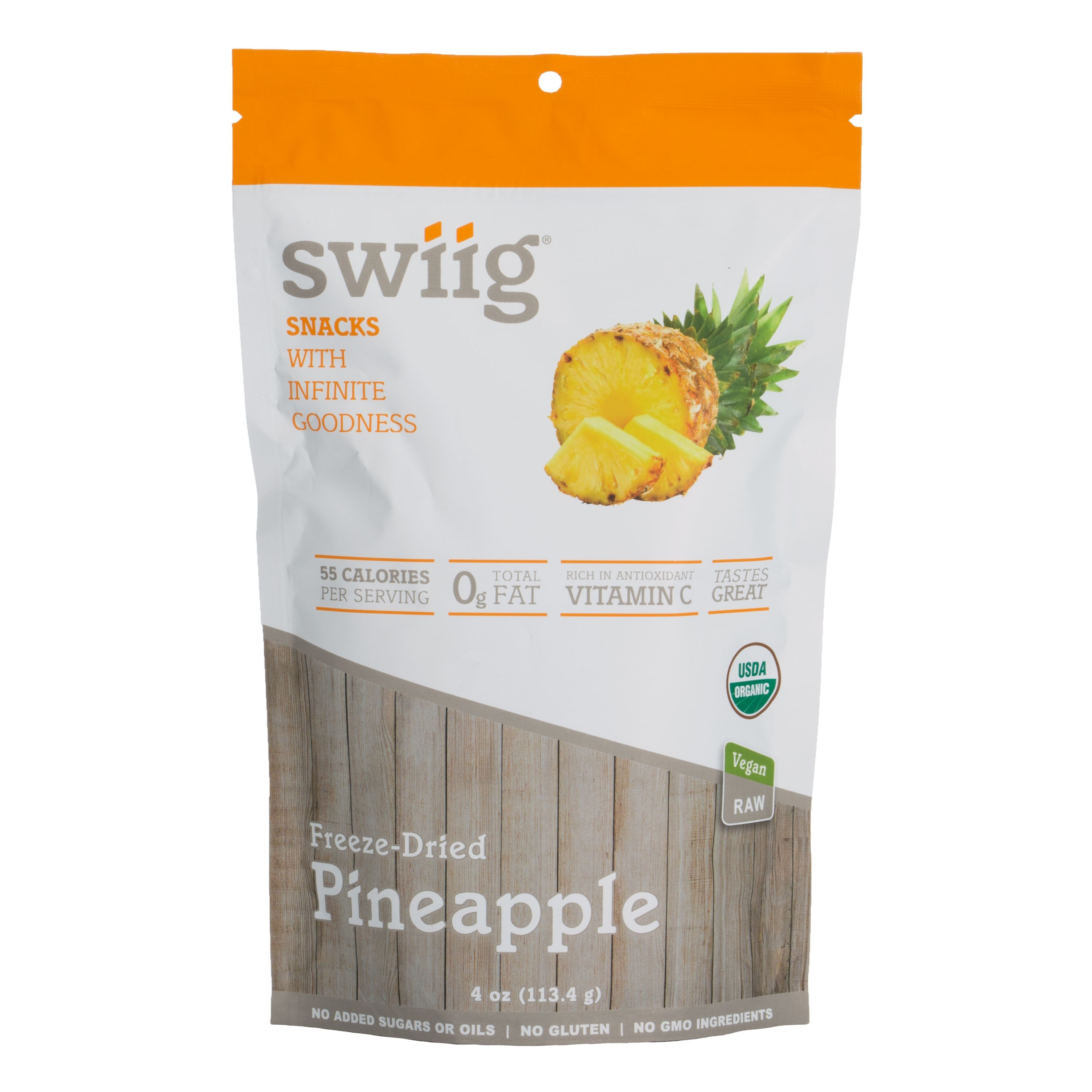 swiig Organic Freeze-Dried Pineapple