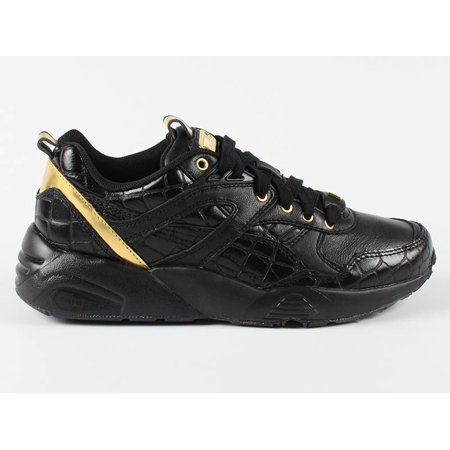 7003f0036c22 PUMA - Women s R698 Exotic Black Gold 36090901 - Walmart.com