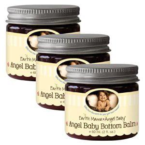 Earth Mama Angel Baby Bottom Balm, 3 Pack - 2 Oz. (60 ml)