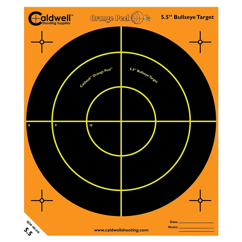 "Caldwell Orange Peel 5.5"" Bulls-Eye, 50 Sheets"